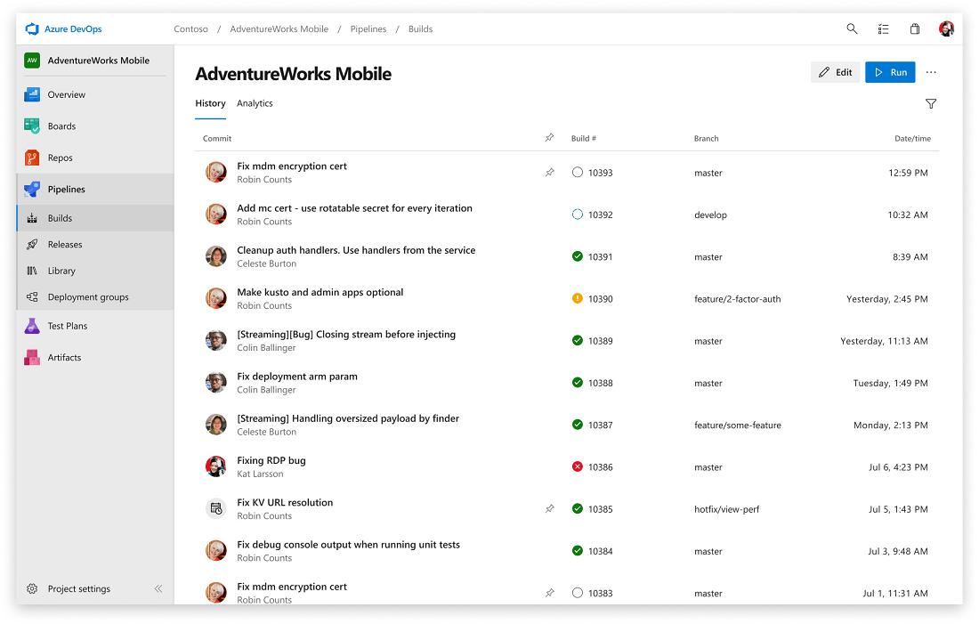 Screenshot Azure DevOps